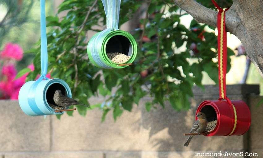 кормушки для птиц из банок