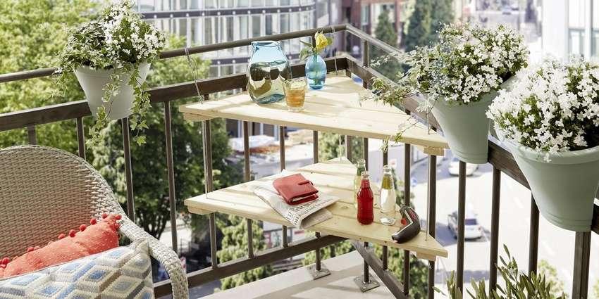 как сделать стол на балкон