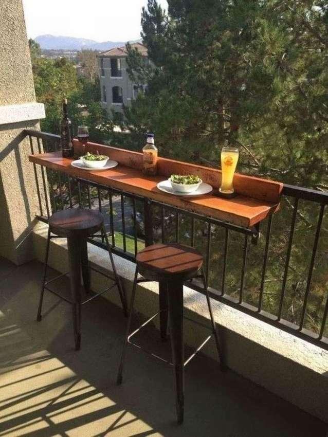 как сделать барную стойку на балконе