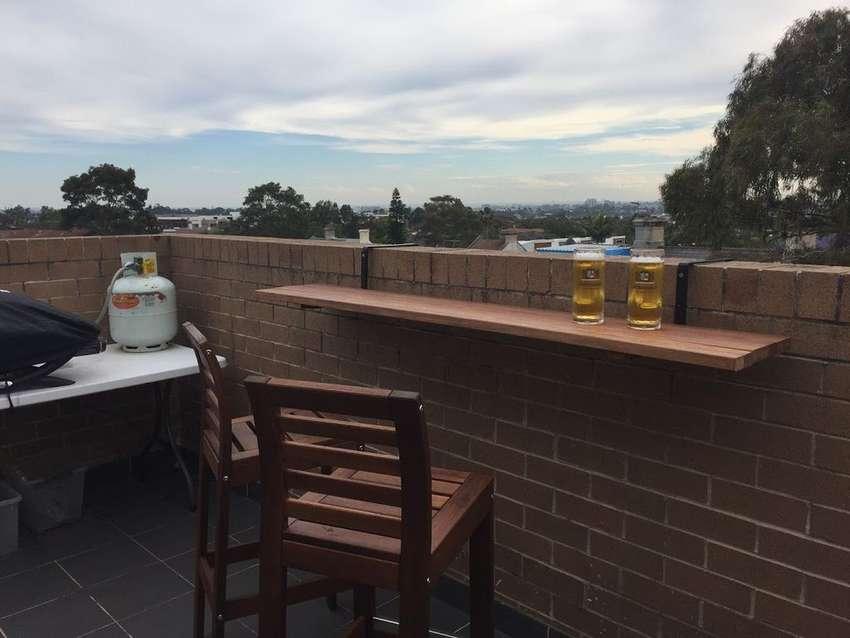 подвесной столик на балкон своими руками