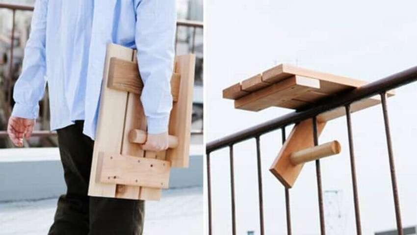 складной столик на балкон своими руками