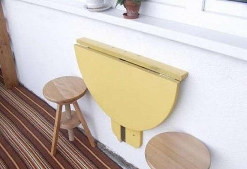 откидной стол на балкон своими руками