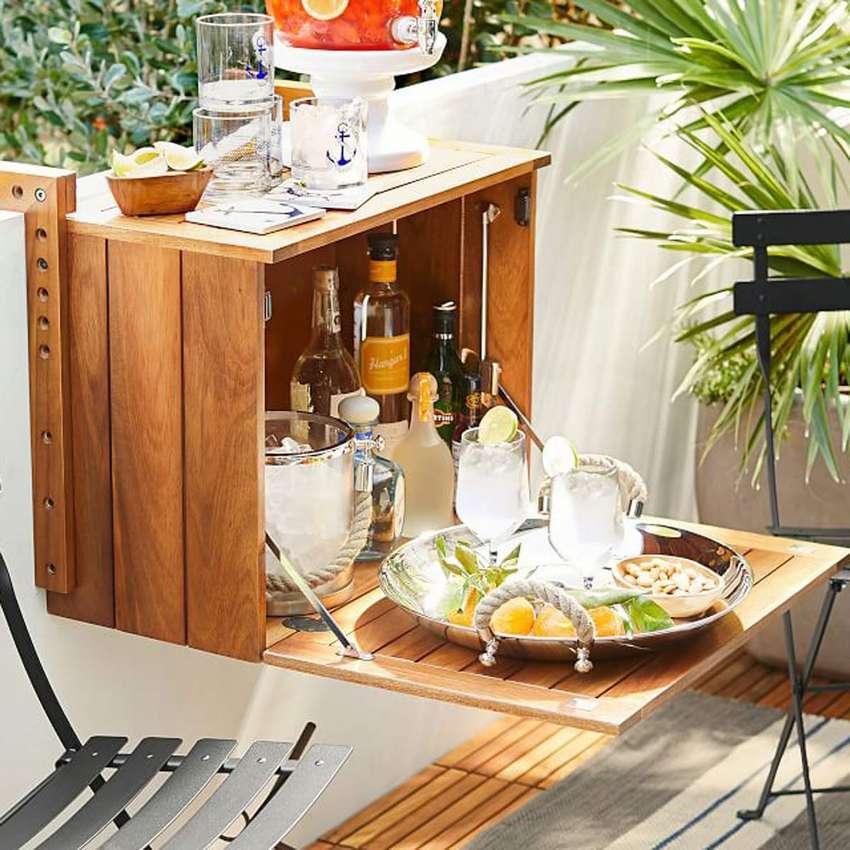 подвесной столик на балкон