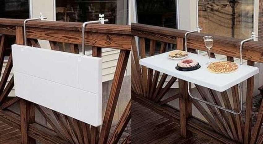 идея складного столика на балкон