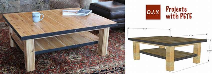 как сделать журнальный столик из дерева