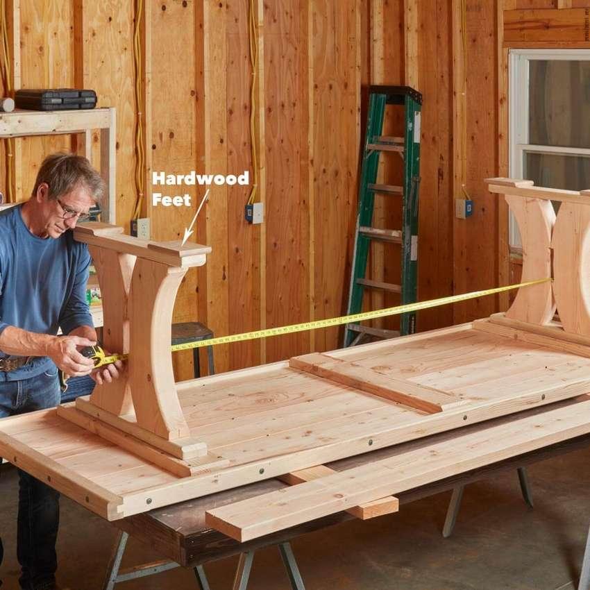 деревянный стол викингов
