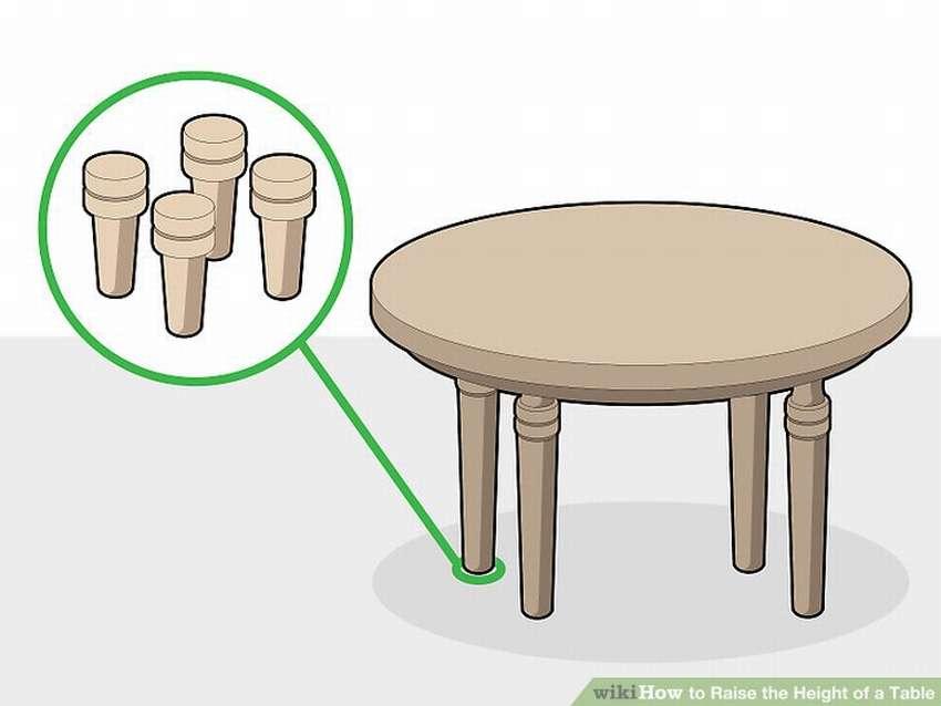 как удлинить ножки стола