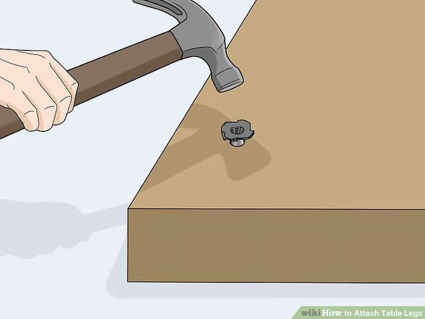 как прикрепить ножки стола