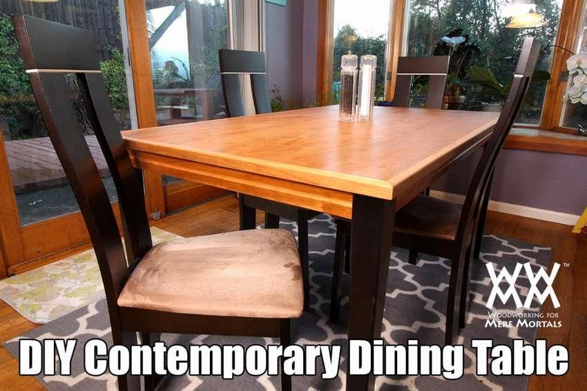 как сделать обеденный стол для кухни