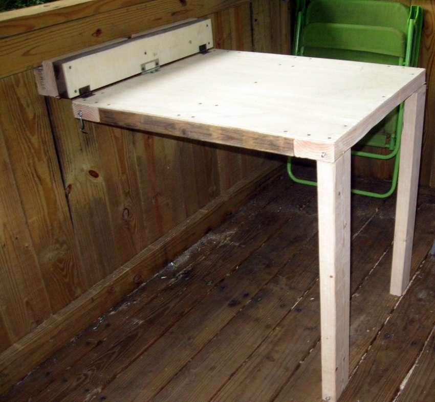 откидной стол из фанеры