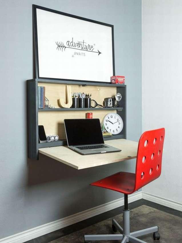 как сделать откидной стол на стену