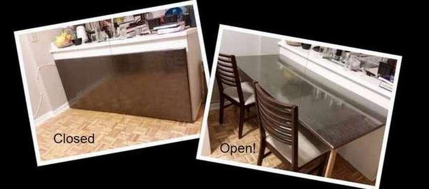 откидной стол для маленькой комнаты