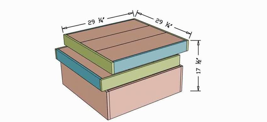 квадратный деревянный журнальный столик